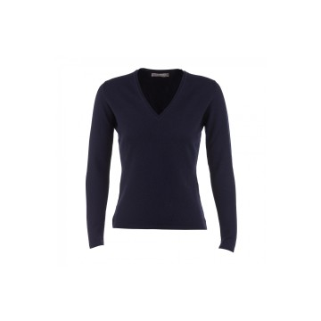 Cashmere Classic V-Neck Sweater - Navy