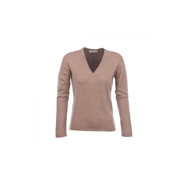 Cashmere Classic V-Neck Sweater - Otter