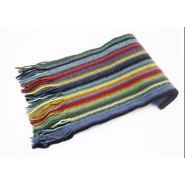 Blue Mix Lambswool Scarf from The Scarf Company - Made in Scotland