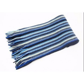 Blue & White Lambswool Scarf from The Scarf Company - Made in Scotland
