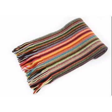 Orange Mix Lambswool Scarf from The Scarf Company - Made in Scotland