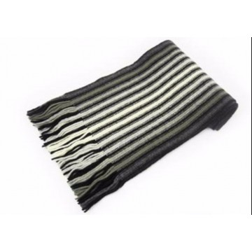 White & Black Lambswool Scarf from The Scarf Company - Made in Scotland