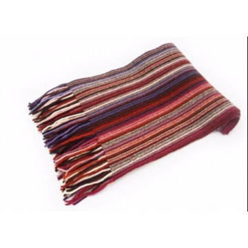 Red Mix Lambswool Scarf from The Scarf Company - Made in Scotland