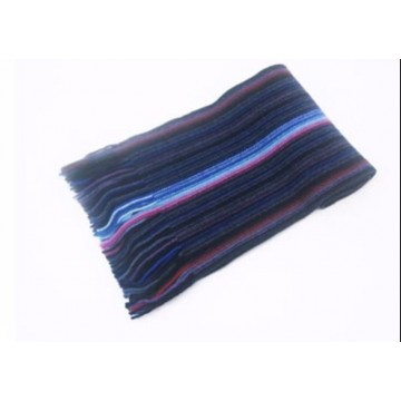 Blue Stripe Lambswool Scarf from The Scarf Company - Made in Scotland