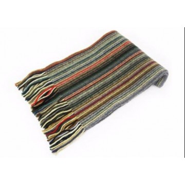 Thin Muted Stripes Lambswool Scarf from The Scarf Company - Made in Scotland