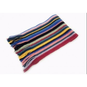 Mixed Stripes Lambswool Scarf from The Scarf Company - Made in Scotland