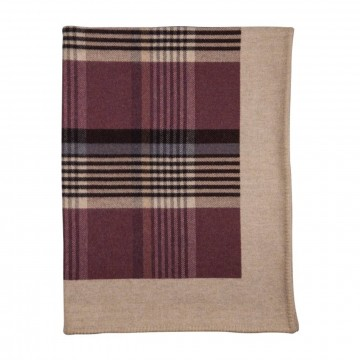 Lambswool Glen Blanket -Tayberry