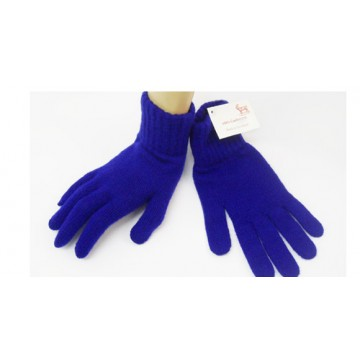 The Scarf Company Lambswool Childrens Gloves - Blue