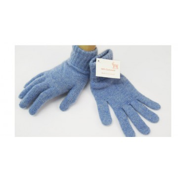 Blue Haze 2 Ply Cashmere Ladies' Gloves from The Scarf Company