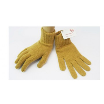 The Scarf Company Camel 2 Ply Cashmere Ladies' Gloves