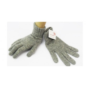 Flannel Grey 2 Ply Cashmere Ladies' Gloves from The Scarf Company