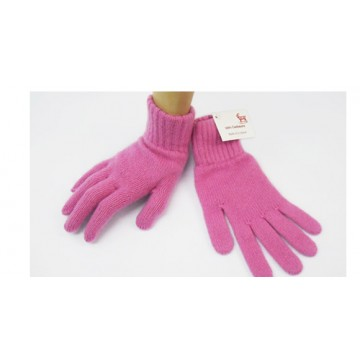 Gossip Pink 2 Ply Cashmere Ladies' Gloves from The Scarf Company