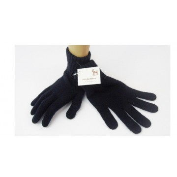 The Scarf Company Navy 2 Ply Cashmere Ladies' Gloves