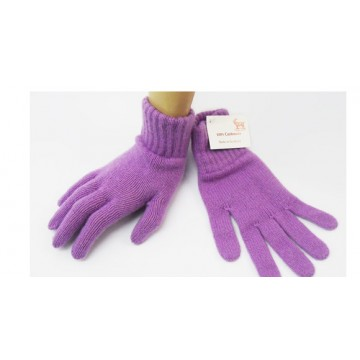 Wisteria Purple 2 Ply Cashmere Ladies' Gloves from The Scarf Company