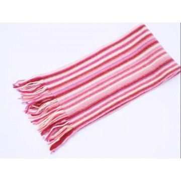The Scarf Company Pale Pink Striped Cashmere Scarf