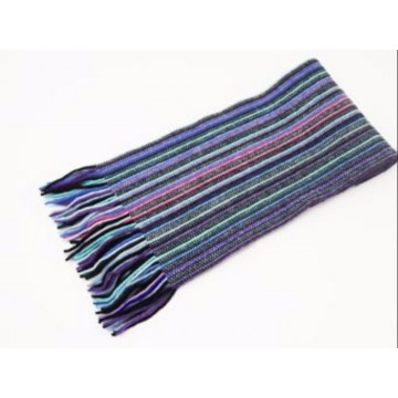 The Scarf Company Blue Striped Cashmere Scarf