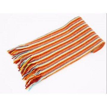 The Scarf Company Orange Striped Cashmere Scarf