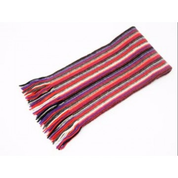 The Scarf Company Purple Striped Cashmere Scarf