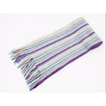 The Scarf Company Lilac Striped Cashmere Scarf