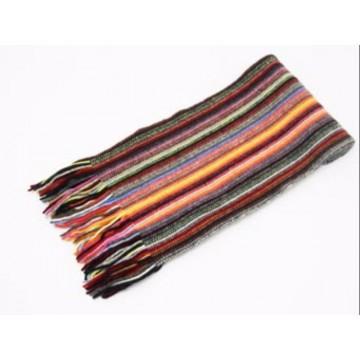 The Scarf Company Multicoloured Striped Cashmere Scarf