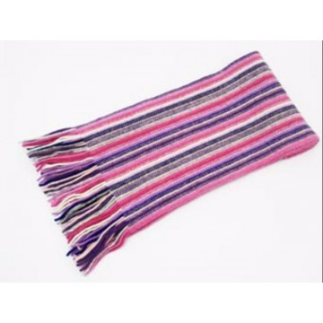 The Scarf Company Pink Striped Cashmere Scarf
