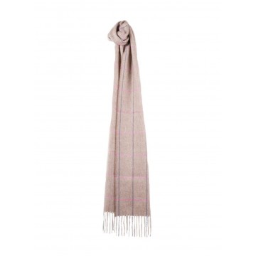 Sinclair Duncan Herringbone Woven Cashmere Scarf - Light Fawn