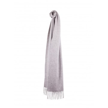 Sinclair Duncan Solid Colour Woven Cashmere Scarf - Light Grey