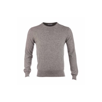 Cashmere Classic Round Neck Sweater - Light Grey