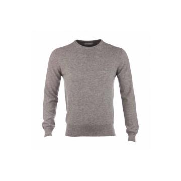 Cashmere Classic Round Neck Sweater - Light Grey