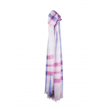 Sinclair Duncan Thistledown Cashmere Scarf - Light Grey Plaid