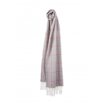Sinclair Duncan Herringbone Woven Cashmere Scarf - Light Grey