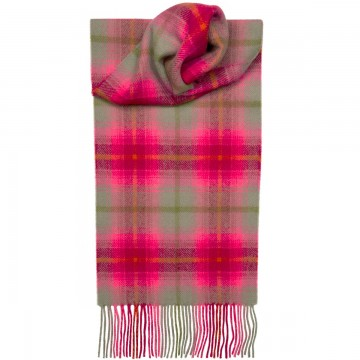 Lilliesleaf Check Tartan 100% Lambswool Scarf by Lochcarron