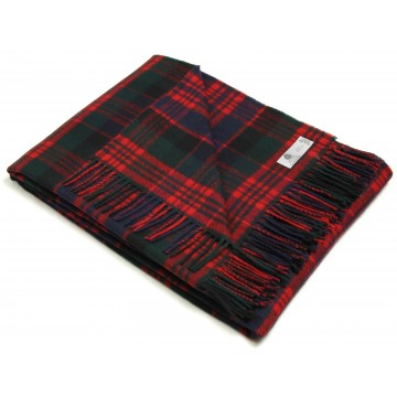 Bronte by Moon 100% Lambswool Tartan Throw - MacDonald