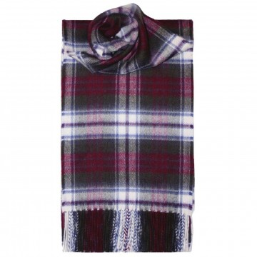 MacDuff Dress Weathered Tartan 100% Cashmere Scarf by Lochcarron of Scotland