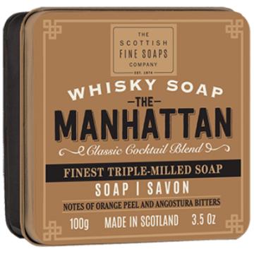 The Manhattan Whisky Soap in a Tin