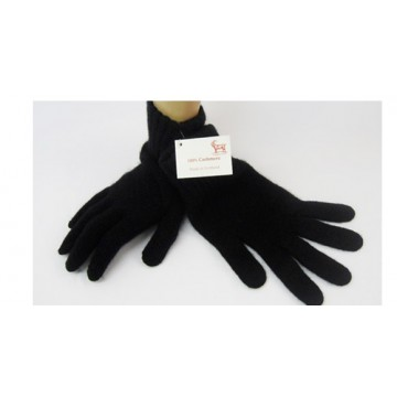 Black Cashmere 3 Ply Men's Gloves from The Scarf Company