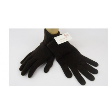 Dark Brown Cashmere 3 Ply Men's Gloves from The Scarf Company