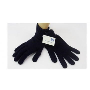 Navy Cashmere 3 Ply Men's Gloves from The Scarf Company