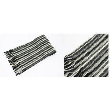 Black & White Men's 1 Ply Cashmere Scarf from The Scarf Company