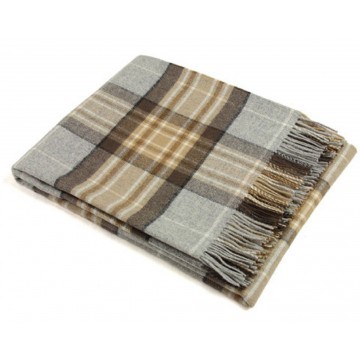 Bronte by Moon 100% Lambswool Tartan Throw - McKellar