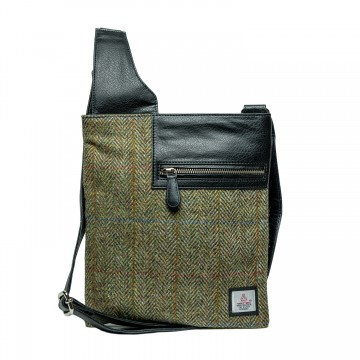 Maccessori Harris Tweed Medium Cross Body Bag in Country Green