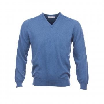 Classic Cashmere Sweater - Delph Blue