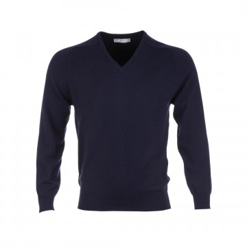 Classic Cashmere Sweater - Navy