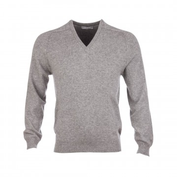 Classic Cashmere Sweater - Light Grey