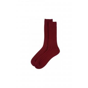 Cashmere Mens Socks - Russet Red
