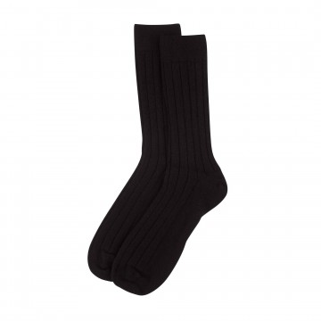 Cashmere Mens Socks - Black