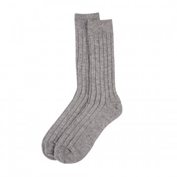 Cashmere Mens Socks - Light Grey