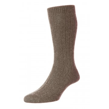 Pantherella Men's Waddington Cashmere Socks - Mink Melange - Medium