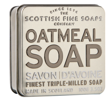 Oatmeal Scottish Fine Soap in a Tin - 100g Triple Milled