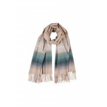 Cashmere Ombre Tip Stole - Soft Forest